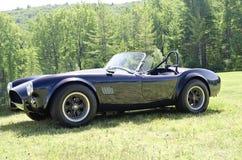 Vista lateral convertible azul del coche de deportes Fotografía de archivo