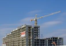 Vista lateral da construção sob a construção Imagens de Stock Royalty Free