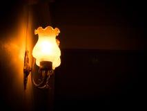 Vista lateral da lâmpada de parede fotografia de stock royalty free
