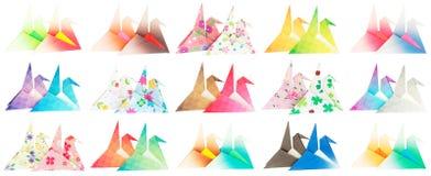 Vista lateral de 30 pájaros del origami Fotos de archivo