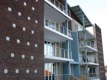 Vista lateral de apartamentos Foto de archivo libre de regalías