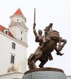 Vista lateral de Bratislava Castle Fotografía de archivo