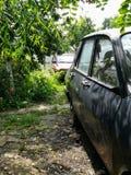 Vista lateral de coches antiguos fotos de archivo libres de regalías
