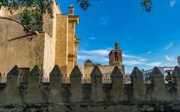 Vista lateral de la basílica Imágenes de archivo libres de regalías