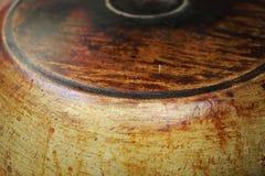 Vista lateral de la cacerola fuliginosa Imagen de archivo libre de regalías