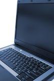 Vista lateral de la computadora portátil Foto de archivo libre de regalías