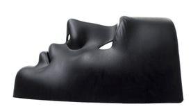 Vista lateral de la máscara negra Imágenes de archivo libres de regalías