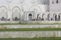 Vista lateral de la mezquita de Hassan II Imagen de archivo libre de regalías