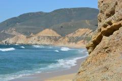 Vista lateral de la playa Fotografía de archivo