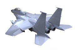 Vista lateral de la postura del halcón que lucha F-16 Fotografía de archivo