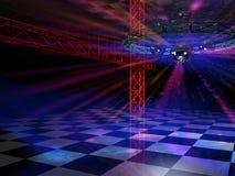 Vista lateral de la sala de baile Fotografía de archivo