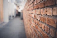 Vista lateral de la textura de la pared de ladrillo fotos de archivo