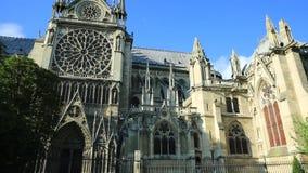 Vista lateral de Notre Dame almacen de video