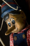 Vista lateral de Pinocchio Fotografía de archivo