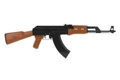 Vista lateral de uma arma de AK-47 Imagem de Stock