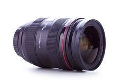 Vista lateral de uma lente de zoom 24-70 Fotos de Stock Royalty Free