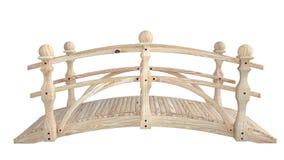 Vista lateral de uma ponte de madeira branca pequena Fotos de Stock