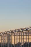Vista lateral de un invernadero holandés Imagen de archivo libre de regalías
