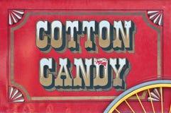 Vista lateral del carro del caramelo de algodón Imagen de archivo