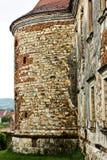 Vista lateral del castillo de Banffy en Bontida foto de archivo