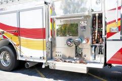 Vista lateral del coche de bomberos, la Florida Foto de archivo libre de regalías