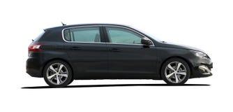 Vista lateral del coche negro Imagen de archivo