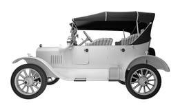 Vista lateral del coche retro representación 3d Fotografía de archivo
