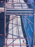 Vista lateral del detalle del andamio fotos de archivo libres de regalías
