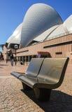 Vista lateral del icono más famoso de Sydney Fotos de archivo