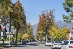Vista lateral del país hermoso del otoño cerca de Los Ángeles Imágenes de archivo libres de regalías