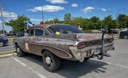 vista lateral 1959 del strato de Pontiac principal Imágenes de archivo libres de regalías