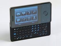 Vista lateral del telclado numérico QWERTY elegante del teléfono dejada Fotografía de archivo