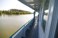 Vista lateral do barco Imagens de Stock