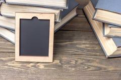 Vista lateral do livro velho Fotografia de Stock