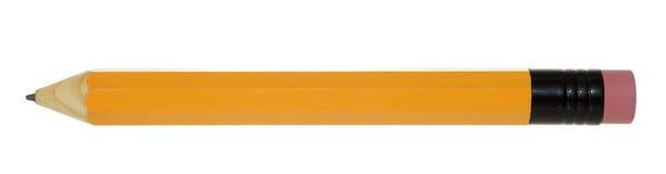 Vista lateral isolada lápis Fotos de Stock