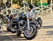 Vista lateral sobre una moto Fotografía de archivo