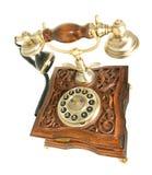 Vista lateral superior do telefone antigo imagens de stock royalty free
