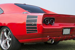Vista lateral traseira do carro feito sob encomenda Foto de Stock
