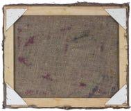Vista lateral trasera de la lona del aceite fotografía de archivo libre de regalías