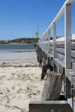 Vista lateral Victor Harbor Jetty, península de Fleurieu, austral del sur Fotos de archivo libres de regalías