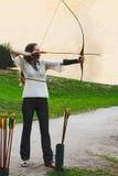 vista laterale del archer Immagine Stock