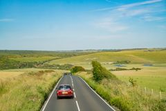 Vista laterale del bello paese intorno a West Sussex fotografie stock