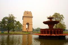 Vista laterale del cancello dell'India, Nuova Delhi Fotografie Stock