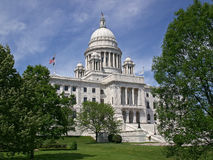 Vista laterale del Capitol- della condizione del Rhode Island Fotografie Stock Libere da Diritti