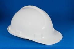 Vista laterale del cappello duro bianco Fotografia Stock Libera da Diritti