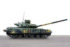 Vista laterale del carro armato dei veicoli militari fotografia stock
