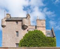 Vista laterale del castello di Dornach in Scozia Immagini Stock