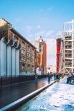 Vista laterale del centro di Georges Pompidou a Parigi, Francia fotografia stock libera da diritti
