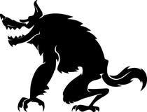 Vista laterale del lupo mannaro illustrazione vettoriale