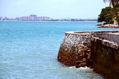 Vista laterale del mare Fotografia Stock Libera da Diritti